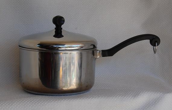 RESERVED ---------------------- Vintage Farberware Aluminum Clad Stainless Steel 3 Quart Covered Saucepan