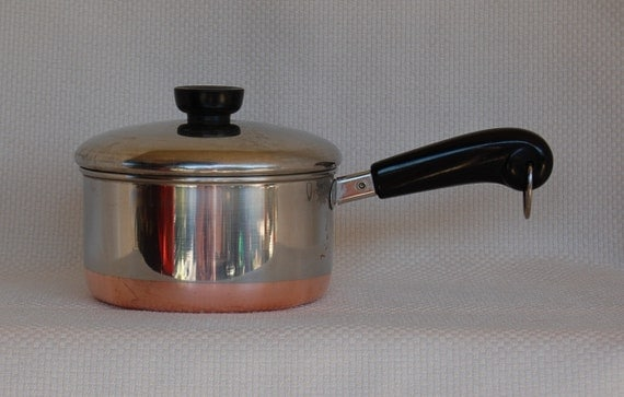 Vintage Revere Ware 1801 Copper Clad Stainless Steel 1 1 2