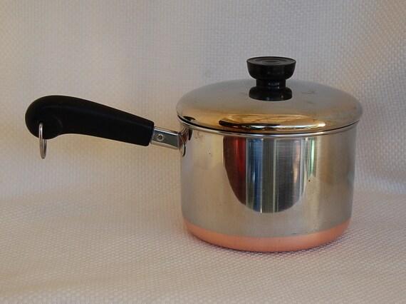 Vintage Revere Ware 1801 Copper Clad Stainless Steel 2 Quart