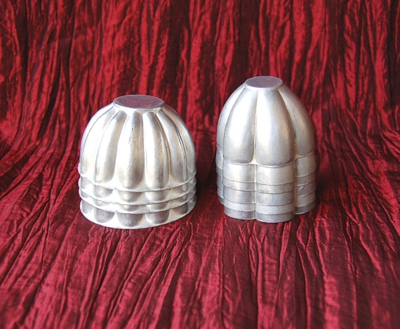 Set of 10 Vintage Small Aluminum Molds Ten Turban Molds for Jello, Party Salads and Desserts or use for Soap Molds