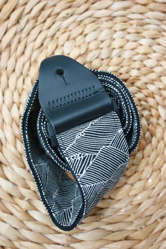 Custom for Cory- Ride The Dark Wave Organic Cotton & Hemp Guitar Strap