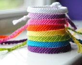 SALE - Rainbow Bright - Solid Colored  Woven Bracelet (buy 3, get 1 FREE)