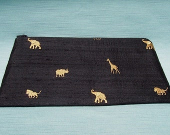 Wristlet Clutch Bag - Black Safari