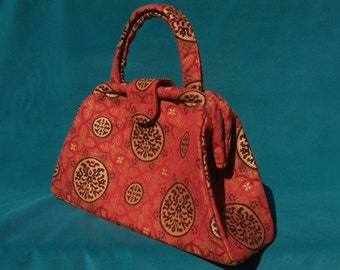 Chinese Red Retro Jackie Clutch Pocketbook