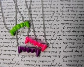 Neon Fang Necklace - Pink