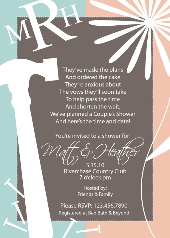 His And Her Wedding Shower Gifts : His and Her Shower Invitation