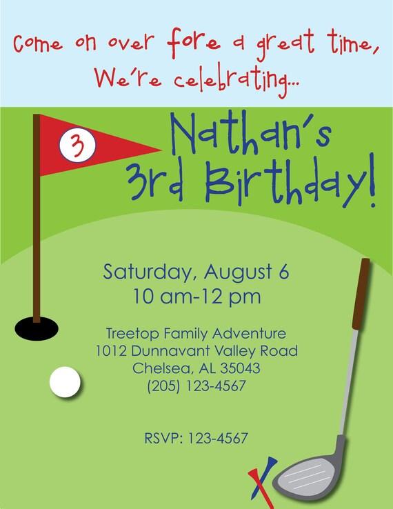 minigolf geburtstag einladung-custom kleine golfer geburtstag, Einladung