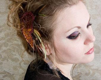 Autumn Butterfly Hair Clips