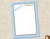 PRINTABLE Baby Boy Onesie Clothesline Baby Shower Thank You Cards #201