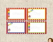 PRINTABLE Ice Cream Party Label Tents #575