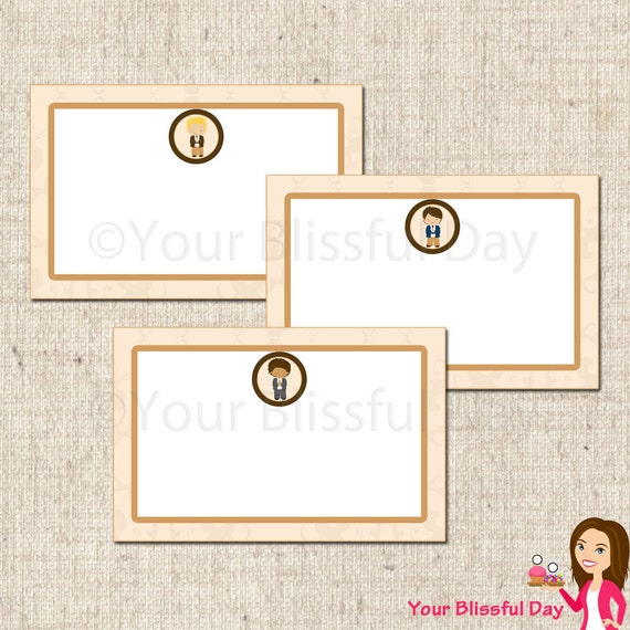 PRINTABLE First Communion Boy Label Tents (Character of your choice) #602