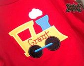 Choo Choo Train Boys Applique Shirt