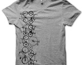 All Your Bikes In a Row Tshirt  MEDIUM MENS