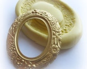 Cameo Frame Mold Victorian Fancy Setting Mold Resin Clay Mould