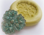 Pansy Flower Flexible Wax Clay Resin Soap Embellishment Mould Mold