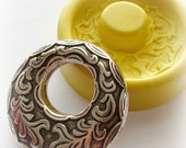 Round Pendant Frame Victorian Fancy Setting Mold Resin Clay Mould