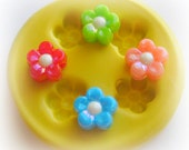 Flower Daisy Polymer Clay Flowers Cabochon Mold Resin Clay Mould