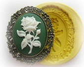 Flower Cameo Mold Silicone Cameo Frame Flexible Mould Polymer Clay  Molds