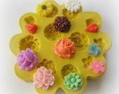 Flower Mold Daisy Tiny Flowers DIY Earrings Design Mold Polymer Clay Resin Button Magnet Mould