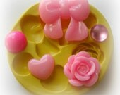 Bow Flower Rose Polymer Clay Flowers Cabochon Mold Resin Clay Mould