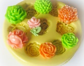 Flower Flexible Mold Cabochon Mold Resin Clay Silicone Flexible Flower Mould