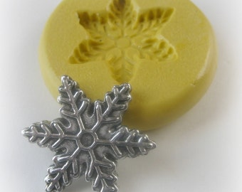 Snowflake Mold Mould Resin Clay Fondant Wax Soap Miniature Sweet Flower Victorian Jewelry Charms Flexible Molds