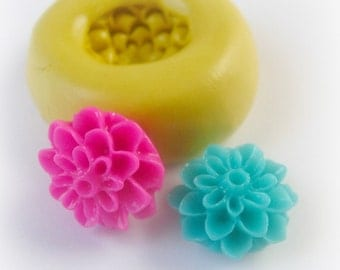 Flower Cabochon Mold Resin Clay Mum Mould Hippie Flower