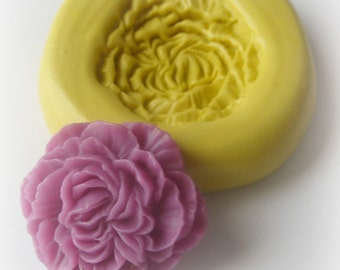 Carnation Flower Mold Resin Clay Fondant Moulds
