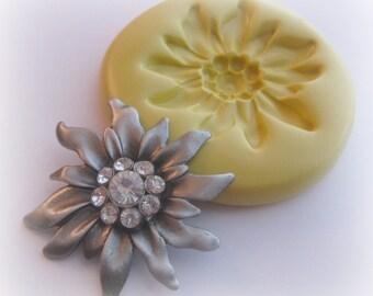 Rhinestone Flower Cabochon Mold Clay Fondant Mold Soap Resin Mold