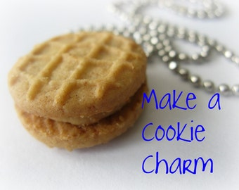 Miniature Peanut Butter Cookie Charm Clay Resin Mold  Kawaii Moulds