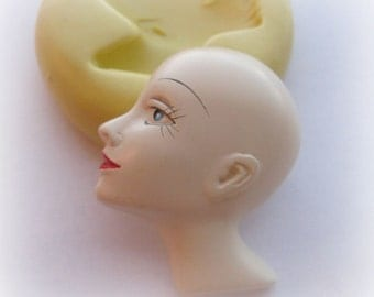 Profile Face Lady Mold Deco Woman Steam punk Jewelry DIY Silicone Mold