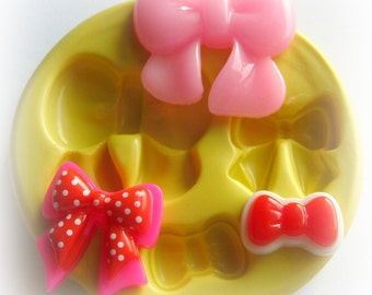 Bow Mold Fondant Resin Polymer Clay Mold Cupcake Topper