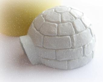 Igloo Arctic Mold North Pole Clay Fondant Resin Mold Textured Flocked Mold