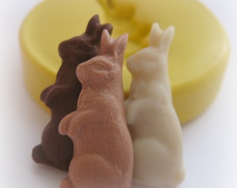 Tiny Chocolate Easter Rabbit Bunny Mold TINY Miniature Clay Resin DIY Charms Mould
