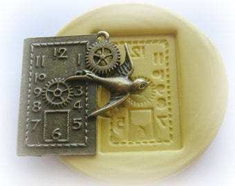 Gears Clock Bird Steampunk Mold Gothic Jewelry DIY Resin Clay Moulds