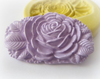 Flower Brooch Mothers Day Flower Basket Barrette Mold Polymer Clay Mold Jewelry Cabochon Mould