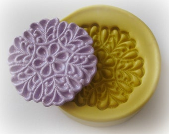Lacey Doily Mold Silicone Soap Clay Resin Mould
