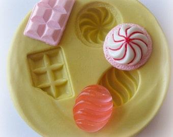 Candy Bar Mint Mold Kawaii Resin Polymer Clay Mold