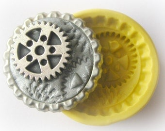 Gears Steampunk Mold Gothic Jewelry DIY Resin Clay Moulds