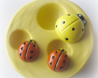 Lady Bug Polymer Clay Cabochon Mold Resin Clay Mould