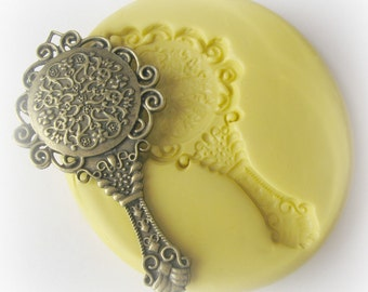 Mirror Mold Mould Resin Clay Fondant Jewelry Charms Flexible Molds