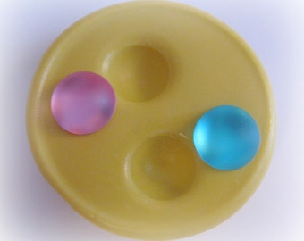 Round Dot Mold Resin Mold Polymer Clay Mould DIY Earrings Findings