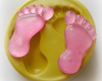Silicone Molds Baby Feet Fondant Mold Clay Resin Foot Mould