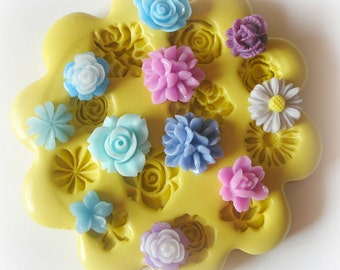 Flower Cabochon Mold Silicone Flexible Resin Mold