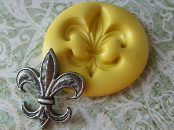 Fleur de Lis Mold French Silicone Mould PMC Resin Clay Candy Fondant