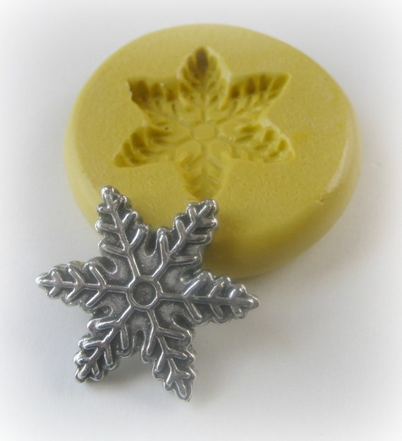 Snowflake Silicone Mold Fondant Clay Resin Soap Mold