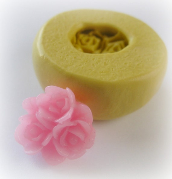 Flower Cluster Cabochon Mold Resin Clay Mould