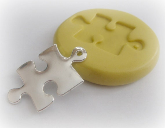 Puzzle Piece Mold Charm Resin Polymer Clay PMC Mould