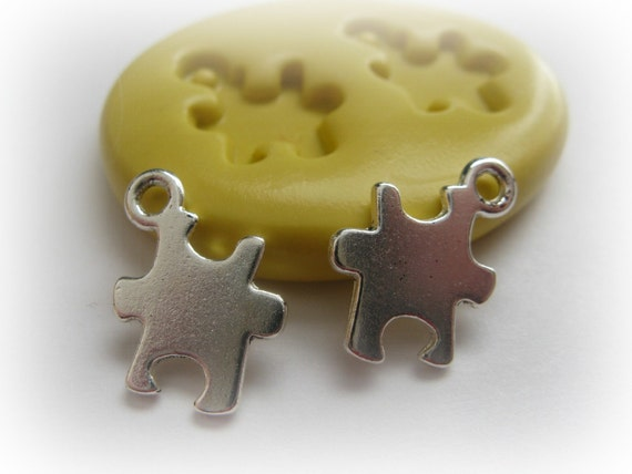 Puzzle Piece Mold DIY Earring Findings Charm Resin Polymer Clay PMC Mould