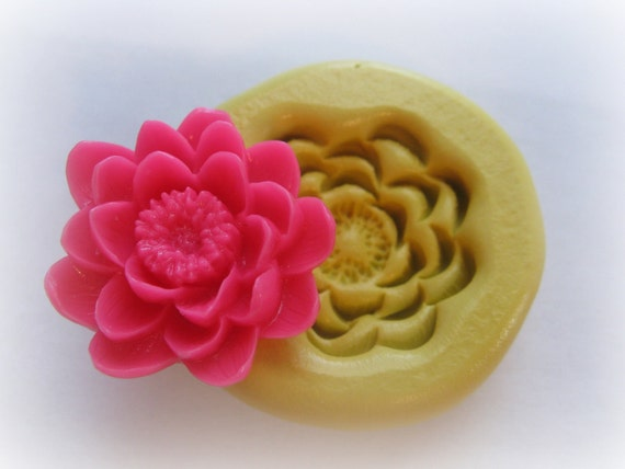 Water Lilly Mold Silicone Open Flower Mould Resin Clay